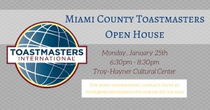 Miami County Toastmasters Open House